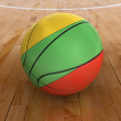 Basket Ball with Lithuanian Flag - Stock Photo