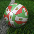Soccer Ball with Mexican Flag — Stock Photo