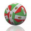 Isolated Soccer Ball with Mexican Flag — Stock Photo