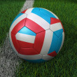 Soccer Ball with Dutch Flag — Stock Photo