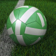 Soccer Ball with Nigerian Flag — Stock Photo