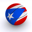Puerto Rican Basket Ball on White - Stock Photo