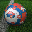 Soccer Ball with Slovakian Flag — Stock Photo