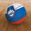 Basket Ball with Slovenian Flag — Stock Photo