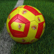 Soccer Ball with Spanish Flag — Stock Photo #24751945