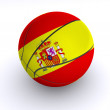 Spanish Basket Ball on White — Stock Photo