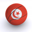 Tunisian Basket Ball on White - Stock Photo
