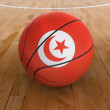 Basket Ball with Tunisian Flag - Stock Photo