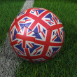 Stock Photo: Soccer Ball with United Kingdom Flag