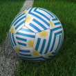 Soccer Ball with Uruguay Flag — Stock Photo