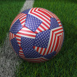 Soccer Ball with USA Flag — Stock Photo