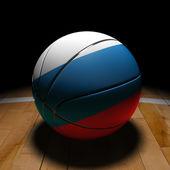 Palla da basket russo con luce drammatica — Foto Stock