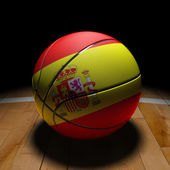 Spanish Basket Ball with Dramatic Light — Stock Photo