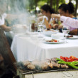 Stock Photo: Barbecue in the Garden