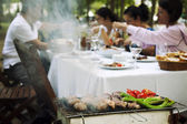 Barbecue in the Garden — Stock Photo