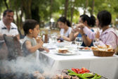 Big Family Barbecue in the Garden — Stock Photo
