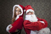 Mr. and Mrs. Santa — Stock Photo
