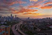 Beautiful landscape scenery of Kuala Lumpur city — Stock Photo