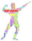 Word cloud of body builder — Foto Stock