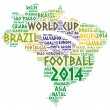 Word cloud of Map of Brazil — Stock Photo