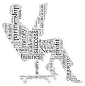 Word Cloud of Business — Stockfoto