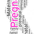 Stock Photo: Word cloud of Pregnancy