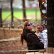 Angelina Jolie And Brad Pitt Take Their Children To A Park In Budapest, Hungary — Stock Photo #22396691