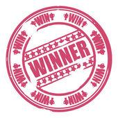 Winner stamp — Stock Vector