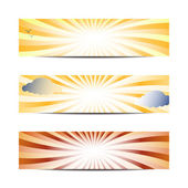 Sun banners — Stock Vector