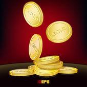 Golden coins — Stock Vector