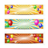 Balloons banners — Stock Vector