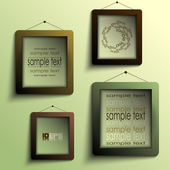 Frames on the wall (olive and coffee theme) — Stock Vector