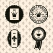 Vintage king size badges — Stock Vector