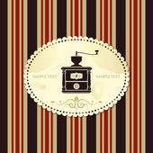 Vintage coffee menu — Stock Vector