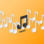 Paper music notes — Stock Vector