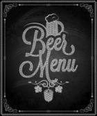 Chalkboard - frame beer menu — Stock Vector