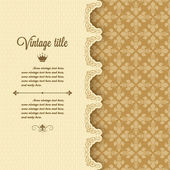 Vintage frame background — Stock Vector