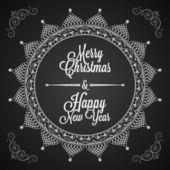 假日-帧快乐圣诞快乐 — 图库矢量图片