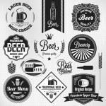 Beer set vintage lager labels — Stock Vector #32937475