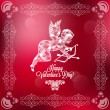 Holiday frame happy valentines day — Stock Vector