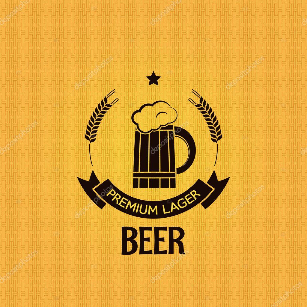 beer hops bottle design vintage mug background stock vector pushkarevskyy 36190219. Black Bedroom Furniture Sets. Home Design Ideas