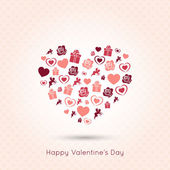 Valentines day heart seamless design background — Vector de stock