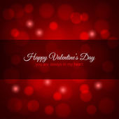 Valentines day red lights design background — Vettoriale Stock