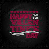Valentines day chalkboard design background — Stock Vector
