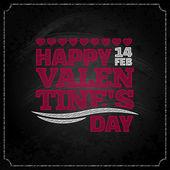 Valentines day chalkboard design background — Stock Vector