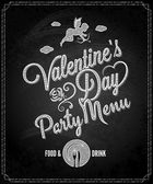 Valentines day chalkboard menu background — Vettoriale Stock
