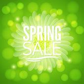 Spring flower sale design background — Stock Vector