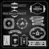 Design prvky křídově textury — Stock vektor