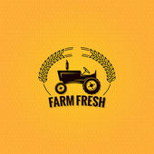 Farm tractor design background — Stock Vector