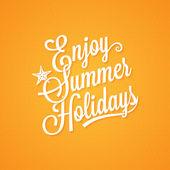 Summer holidays vintage lettering background — Stock Vector